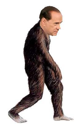 Berlusconi, el hombre-mono
