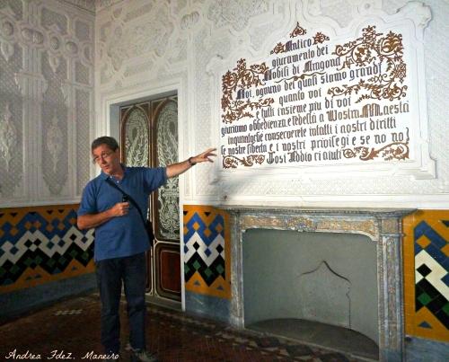 Massimo Sottanti en una visita a Sammezzano